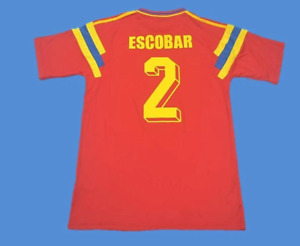 world cup 1990 colombia retro soccer jersey vintage football shirt classic