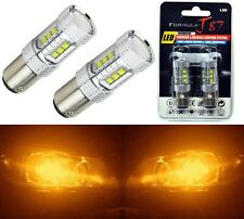 LED Light 80W 1157 Amber Orange Two Bulbs Back Up Reverse Replacement Show Color
