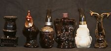 Collection Vintage Avon Cologne Bottles Quail Eagle Stove Deer Bulldog