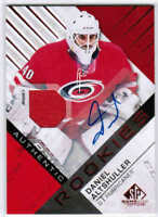 16/17 SP GAME USED DANIEL ALTSHULLER #118 RC JERSEY AUTO RED CAROLINA HURRICANES