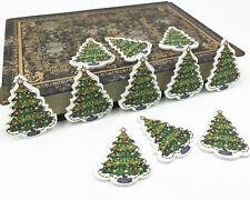 Combinación de Navidad Muñeco de Nieve//Alce//Santa Claus botones madera costura scrapbooking