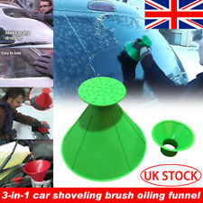 Car Windshield Magic Ice Scraper Tool Cone Shaped Outdoor Funnel Snow Remover UK