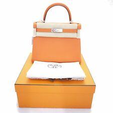 Hermes Kelly 28 cm Retourn Veau Togo 9J Feu NWT 2015 Orange