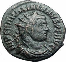 MAXIMIAN 295AD Cyzicus Authentic Ancient Roman Coin JUPITER ZEUS i78737