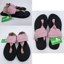 Sanuk YOGA SLING 2 PRINTS Womens Sandals 1100696 Pink/Tan Sizes 6, 9, 10