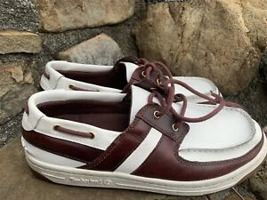 Timberland Loafers 34676-5522 Size 10 M white Leather Excellent Condition