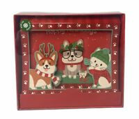 Holiday Style Pop-up 3D Christmas Cards With Envelopes Box Of 8 Dogs Cat Corgi
