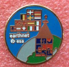 Pins ÉCUSSON Patch ESA SATELLITE EARTHNET NASA Vintage Badge Lapel Pin