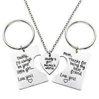 Sloth jungle mom dad /& baby necklace silver Father/'s Day keychain FREE gift bag