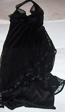 Evening, Cocktail/Formal  Dress - sexy black lace - halter style - Rampage Sz S