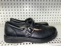 Dr. Comfort Merry Jane Womens Leather Diabetic Mary Janes Shoes Size 7.5 M Black