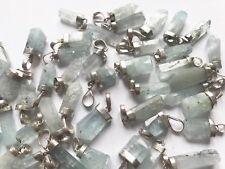 30 PCS Aquamarine Crystal Pendants with 925 silver clasp Pakistan