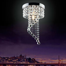 Spiral Crystal Light Stairwell Ceiling Lighting Living Room Lamp Chandeliers