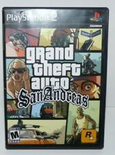 GTA Grand Theft Auto San Andreas Sony PlayStation 2 PS2 w Case and Manual tested