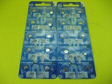 Renata 335 SR512SW NEW 20 pcs Watch Battery Silver 1.55V Japan Made 0% MERCURY