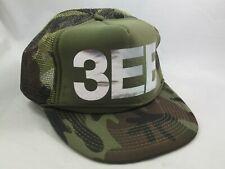 3EB Camo Hat Camouflage Snapback Trucker Cap