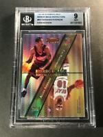ALLEN IVERSON 1997 BOWMAN'S BEST #MI3 MIRROR IMAGE REFRACTOR INSERT BGS 9 NBA