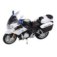United States Police Motorbike Toys 1:18 Toy Diecast Metal Alloy Motor Model New