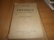 physique classe de seconde C et moderne par Georges Eve (76)