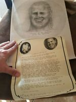 WWF Kurt Henig Family personal schetch from Bobby the Brain picture 1 of 1