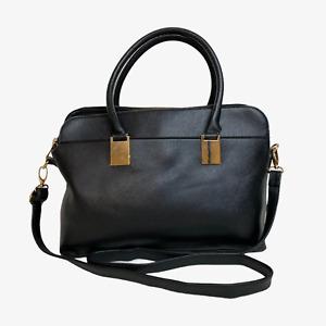 MATALAN Ladies Womens Bag Black Satchel Shoulder Grab Handbag