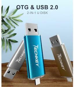 Clé USB 4 Go 2en1 Qualité✅ OTG usb flash🚀 Compatible Windows,iOS,Androïd