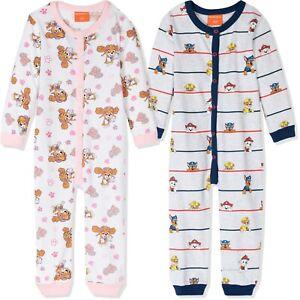 Paw Patrol Boys Girls Long Sleeve Cotton Sleepsuit All In One Pyjamas Pjs 3-8y