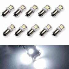 10X BA9S T11 5SMD 12V 5050 Car LED Light Interior Bulb Lamp T4W 1815 H6W White
