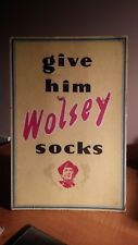 Original 1940/50s Wolsey Socks advertising showcard standing shop display advert