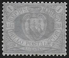 1894 San Marino L. 1 bc oltremare MNH Sass n. 31