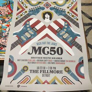 MC5 (MC50) Silk Screen Poster Fillmore 2018 (Wayne Kramer, Soundgarden, Fugazi)