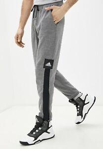 New Adidas Mens Size XL  FH7934 CU 365 Basketball Pants Gray/black nwts