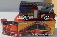 #11 DARK RED CANDY FIRE TRUCK DENNIS SABRE MATCHBOX ROW 2005 SUPERFAST EUROPEAN