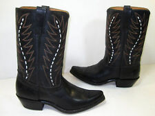 Mens Acme Boots Western Boots Black Leather Size 9 or 9.5
