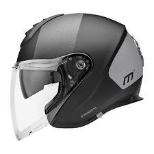 Motorrad Helm Schuberth M1 Resonance Grey Farbe: Schwarzmatt/Grau Gr: 57