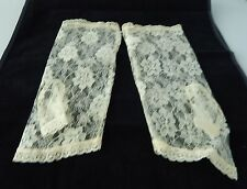 "Sexy  Floral Summer Short Lace Gloves Fingerless Gloves 10"" Size Small NEW"