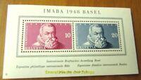 EBS Switzerland Helvetia 1948 IMABA Stamp Exhibition Basel Michel Block 13 MNH**