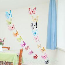 18 Colores 3d Kit Mariposas calcomanías de pared calcomanías la Decoración del Hogar Decoración