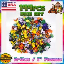 144 pcs Pokemon Mini PVC Action Figures LOT Pikachu Collect Toys Party Gift Kids