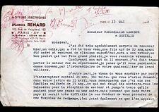 """PARIS (XV°) MOTEURS ELECTRIQUES Sutra """"Marcel RENARD"""" en 1942"""