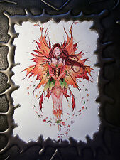 BRAND NEW! AUTUMN SPRITE FAERIE PADDED FAUX LEATHER SKETCHBOOK   OUT OF PRINT!!