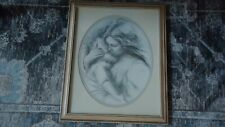 Vintage Homco Home Interiors Framed Mother & Child Print A Touch Of Love