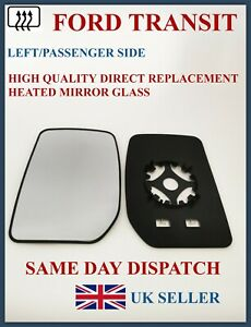 FOR FORD TRANSIT MK7 2006-14 DOOR WING MIRROR GLASS LEFT HAND SIDE CONVEX HEATED