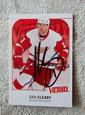 Detroit Red Wings Dan Cleary Signed 09/10 Upper Deck Victory Series 2 Card Auto