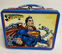 Superman DC Comics Breaking Chains Embossed Metal Lunchbox The Tin Box Co 2000