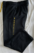 Nike Therma-Fit Men's Live Strong Sweatpants Black Size Large Yellow Spell Out
