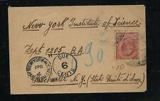Italy  small cover  to  US  postage  due                       KL0331