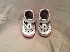 VGUC Stride Rite Baby Toddler Girls Soft Sole 'Lola' Shoes Size 4.5  White/Pink
