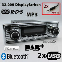 Retrosound San Diego DAB+ Komplettset Chrome Oldtimer Radio USB MP3 Bluetooth