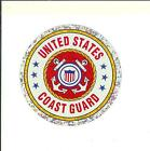 "United States Coast Guard 3"" Round Seal Sticker Decal Armed Forces Military"